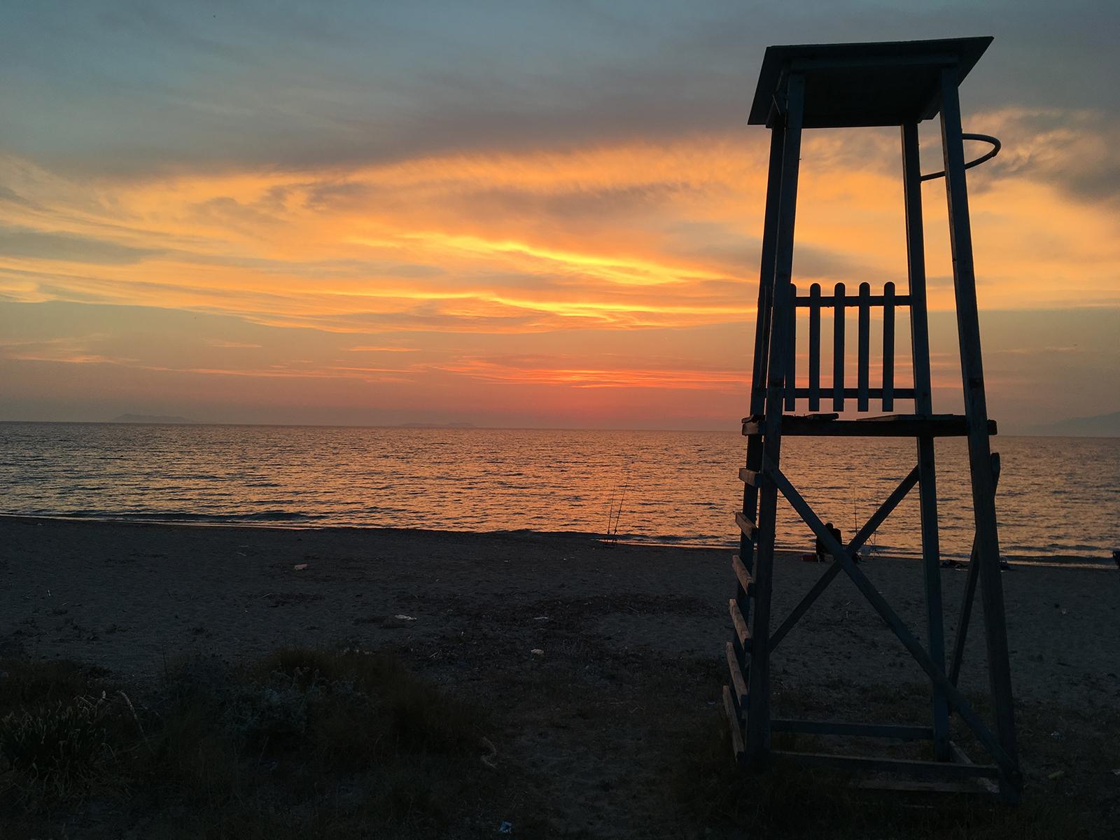 Sunset at Almyros Beach Corfu